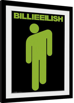Billie Eilish - Stickman Poster Emoldurado