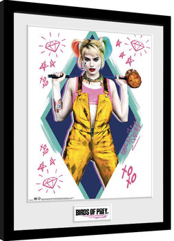 Birds Of Prey: And the Fantabulous Emancipation Of One Harley Quinn - Harley Quinn Poster Emoldurado