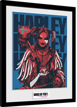 Birds Of Prey: And the Fantabulous Emancipation Of One Harley Quinn - Harley Red Poster Emoldurado