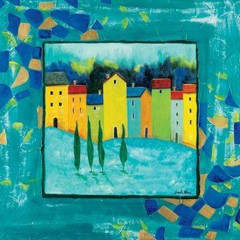 Reprodução do quadro Blue Magenta