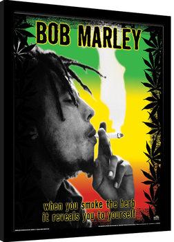Bob Marley - Herb Poster Emoldurado