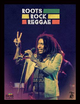 Bob Marley - Roots Rock Reggae Poster Emoldurado