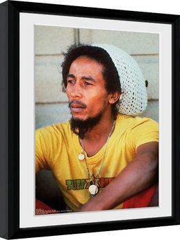 Bob Marley - Yellow Poster Emoldurado