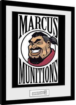 Borderlands 3 - Marcus Logo Poster Emoldurado