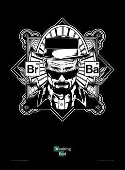 BREAKING BAD - obey heisenberg Poster Emoldurado