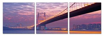 Quadro  Bridge at sunset