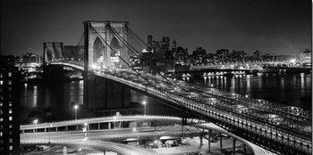 Reprodução do quadro  Brooklyn bridge at night