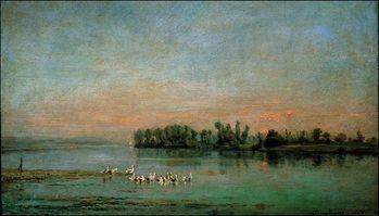 Reprodução do quadro C.F.Daubigny - La Mattina