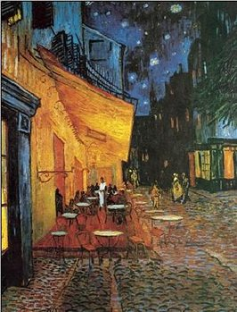 Reprodução do quadro Café Terrace at Night - The Cafe Terrace on the Place du Forum, 1888