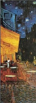 Reprodução do quadro  Café Terrace at Night - The Cafe Terrace on the Place du Forum, 1888 (part.)