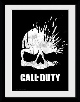 Call Of Duty - Logo Skull Poster Emoldurado