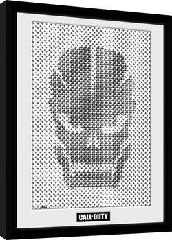 Call Of Duty - Skull Pattern Poster Emoldurado