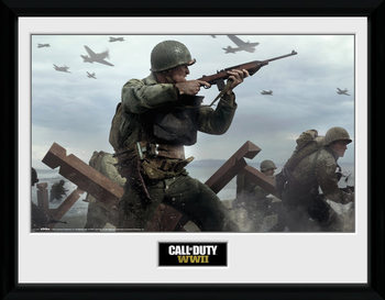 Call Of Duty: Stronghold - WWII Shooter Poster Emoldurado