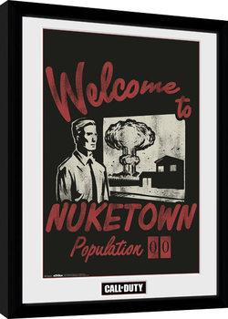 Call of Duty - Welcome to Nuketown Poster Emoldurado