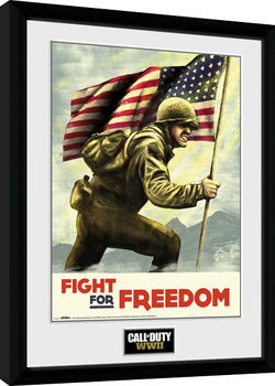 Call of Duty WWII - Fight For Freedom Poster Emoldurado