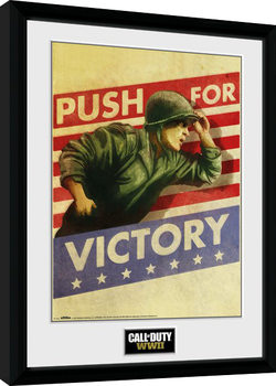 Call of Duty WWII - Push For Victory Poster Emoldurado
