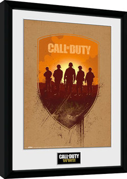 Call of Duty WWII - Shield Poster Emoldurado