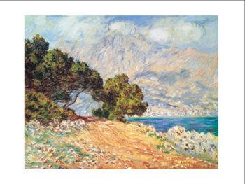 Reprodução do quadro  Cap Martin, near Mentonu