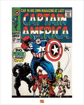 Reprodução do quadro  Captain America