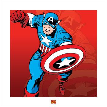 Reprodução do quadro  Captain America - Marvel Comics