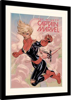 Captain Marvel - Flight Poster Emoldurado
