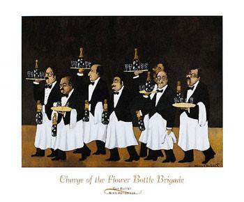 Reprodução do quadro  Charge of the Flower Bottle Brigade