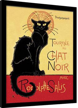 Chat Noir Poster Emoldurado
