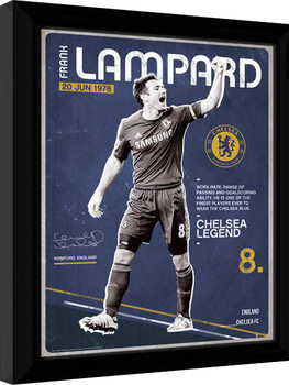 Chelsea - Lampard Retro Poster Emoldurado