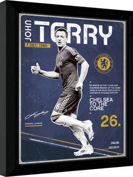 Chelsea - Terry Retro Poster Emoldurado