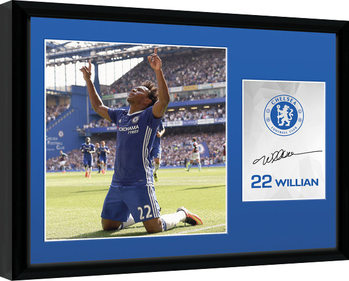 Chelsea - Willian 16/17 Poster Emoldurado