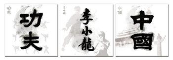 Quadro  China Signs - Kung Fu. Bruce Lee, China
