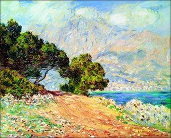Reprodução do quadro  Claude Monet - Cap Martin , Near Menton