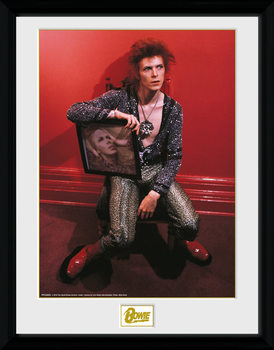 David Bowie - Chair Poster Emoldurado