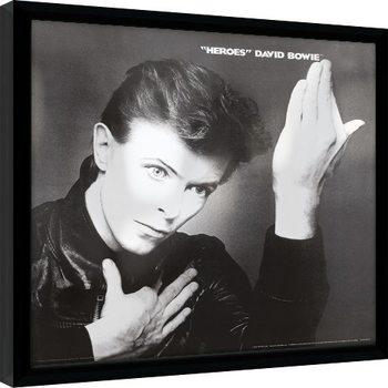 David Bowie - Heroes Poster Emoldurado