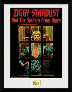 David Bowie - Ziggy Stardust Poster Emoldurado