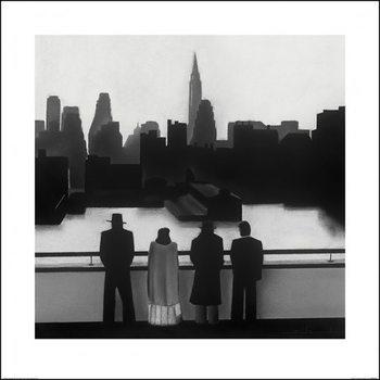 Reprodução do quadro  David Cowden - Skyline