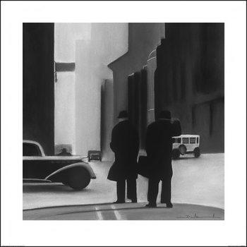 Reprodução do quadro  David Cowden - Waiting
