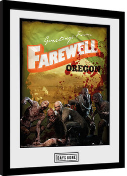 Days Gone - Greetings From Farewell Poster Emoldurado