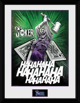DC Comics - Joker Cards Poster Emoldurado