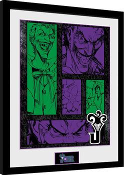 DC Comics - Joker Panels Poster Emoldurado