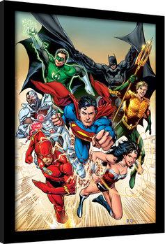 DC Comics - Justice League Heroic Poster Emoldurado