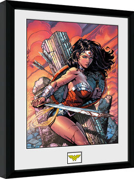DC Comics - Wonder Woman Sword Poster Emoldurado