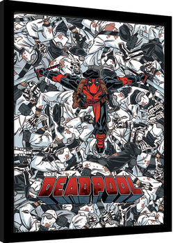 Deadpool - Bodies Poster Emoldurado