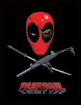 Deadpool - Eye Patch Poster Emoldurado