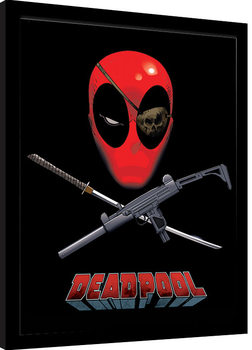 Deadpool - Eye Patch Poster Emoldurado