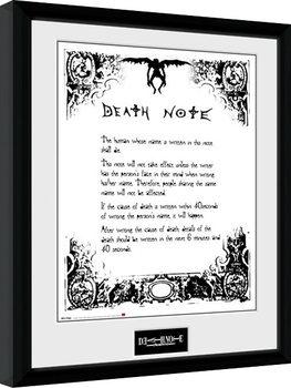 Death Note - Death Note Poster Emoldurado