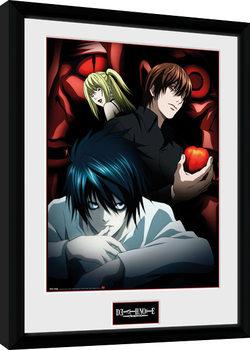 Death Note - Light L and Misa Poster Emoldurado