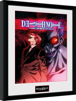 Death Note - Light & Ryuk Poster Emoldurado