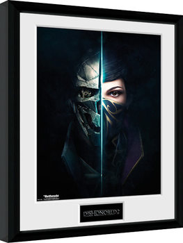 Dishonored 2 - Faces Poster Emoldurado