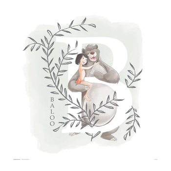 Reprodução do quadro Disney - The Jungle Book